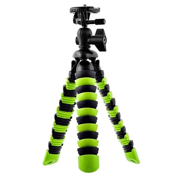 Portable Tripod with Flexible Octopus Legs - Green