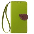 Sony Xperia XZ, Xperia XZs Leaf Wallet Case - Green