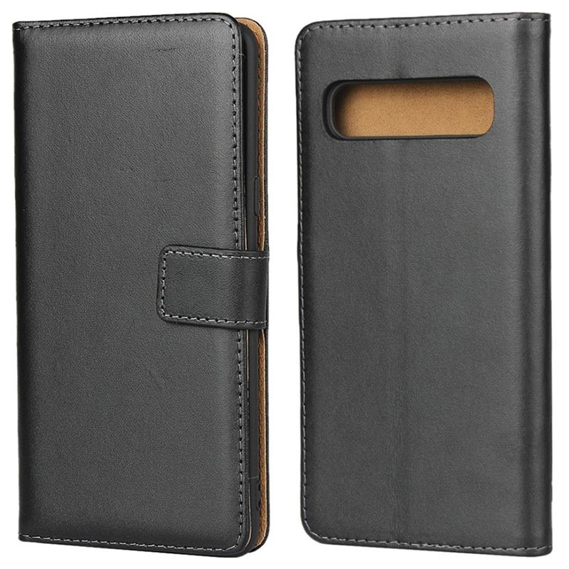 Samsung Galaxy S10 5G Leather Wallet Case with Stand - Black