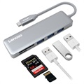 Lenovo C605 Multifunctional 5-in-1 USB-C Adapter - Grey