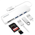 Lenovo C605 Multifunctional 5-in-1 USB-C Adapter - White