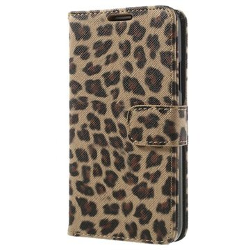 Samsung Galaxy S5 Wallet Leather Case - Leopard