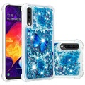 Liquid Glitter Samsung Galaxy A50 TPU Case - Blue Butterfly