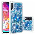 Liquid Glitter Samsung Galaxy A70 TPU Case - Blue Butterfly