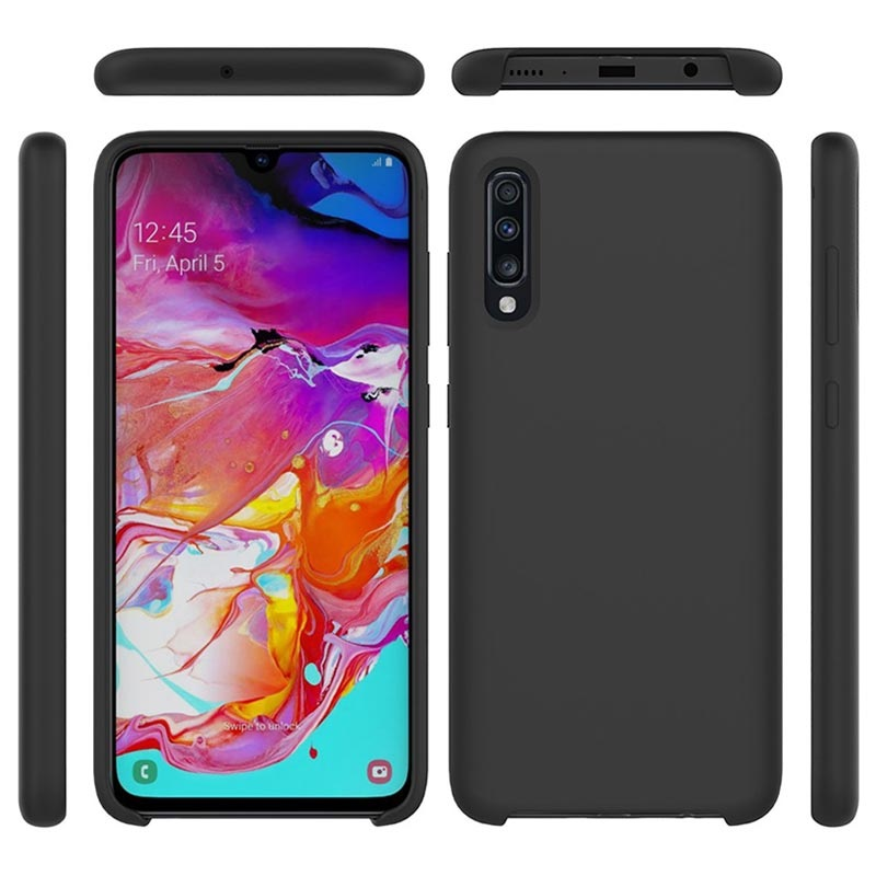 Samsung Galaxy A70 Liquid Silicone Case - Black
