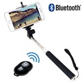 LogiLink BT0034 Bluetooth Selfie Stick with Remote Control - Black