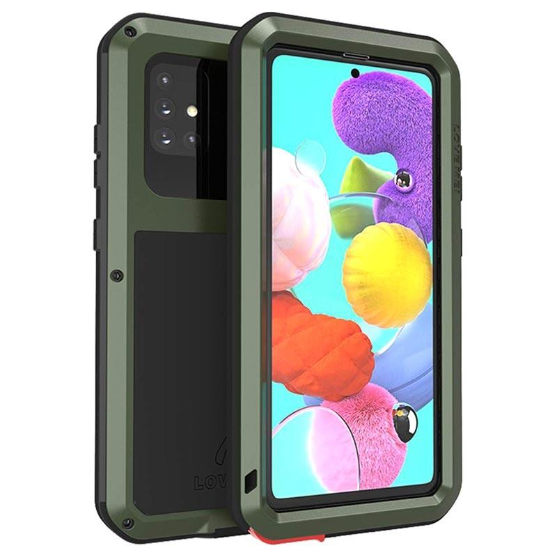 Love Mei Powerful Samsung Galaxy A51 5G Hybrid Case - Green