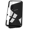 Samsung Galaxy A50 Magnetic Case with Tempered Glass Back - Black
