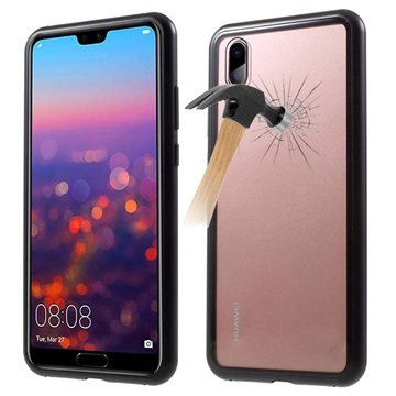 best value 65488 fc82f Huawei P20 Pro Magnetic Case with Tempered Glass Back