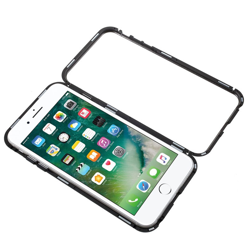 timeless design d8c0d ecfc7 iPhone 6/6S Magnetic Case with Tempered Glass Back