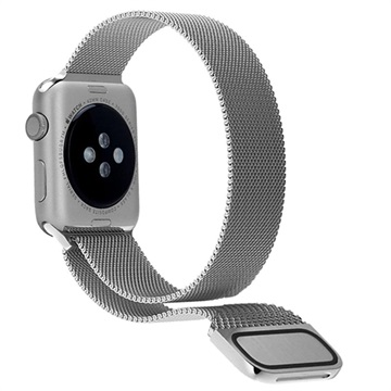 Apple Watch Series 4/3/2/1 Magnetic Milanese Strap - 44mm, 42mm - Silver