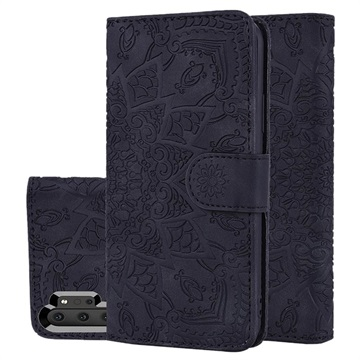 Mandala Series Samsung Galaxy Note10+ Wallet Case - Black