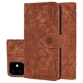 Mandala Series iPhone 11 Wallet Case with Stand - Brown