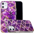 Marble Pattern Electroplated IMD iPhone 12 mini TPU Case