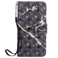 iPod Touch 5G, iPod Touch 6G Marble Wallet Case - Black