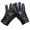 Men's Leather Touch Screen Gloves M8 - Black