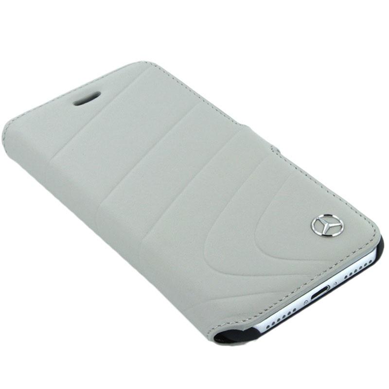 iphone 7 mercedes benz organic i wallet leather case grey. Black Bedroom Furniture Sets. Home Design Ideas