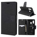 Mercury Goospery Fancy Diary Samsung Galaxy A40 Wallet Case - Black
