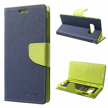 Mercury Goospery Fancy Diary Samsung Galaxy S10e Wallet Case - Blue / Green