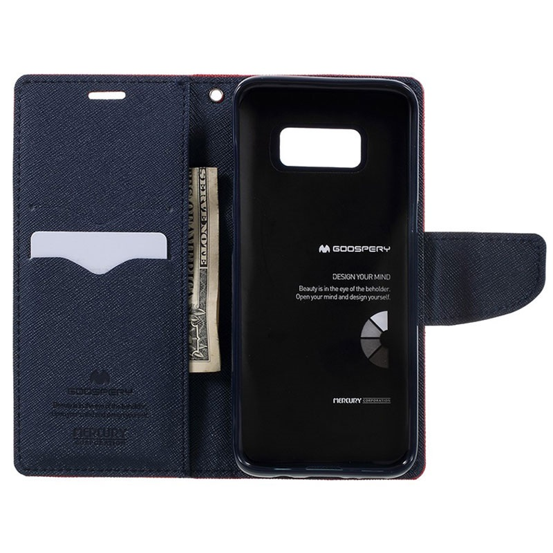Samsung Galaxy S8 Mercury Goospery Fancy Diary Wallet Case