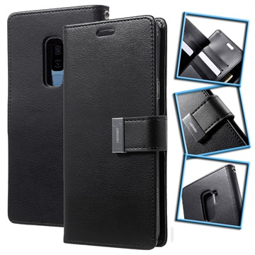 Samsung Galaxy S9+ Mercury Rich Diary Wallet Case