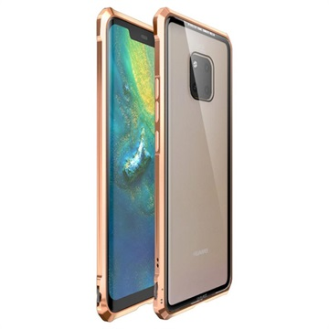 Huawei Mate 20 Pro Metallic Bumper w/ Tempered Glass Back