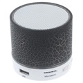 Mini Bluetooth Speaker with Microphone & LED Lights A9 - Cracked Black