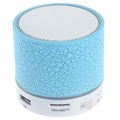 Mini Bluetooth Speaker with Microphone & LED Lights A9 - Cracked Blue