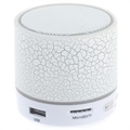 Mini Bluetooth Speaker with Microphone & LED Lights A9 - Cracked White
