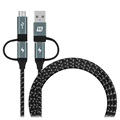 Momax OneLink 4-in-1 Universal Cable - USB-C, MicroUSB, USB 2.0 - 1.2m