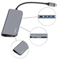 Momax Onelink 8-in-1 Multifunctional Type-C USB Hub - Grey