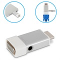 Moshi HDMI to VGA Adapter with 3.5mm Audio - Silver / White