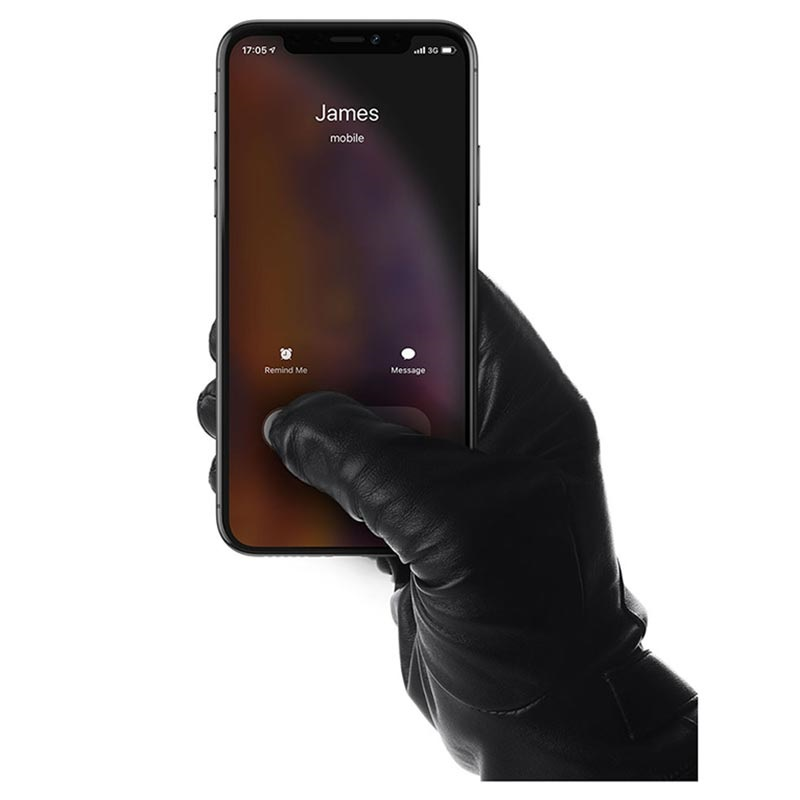 Mujjo Leather Touchscreen Gloves - M - Black