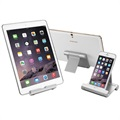 "Multi-Angle Aluminium Desktop Holder for Smartphone/Tablet - 4""-10"""