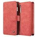 iPhone 7 Plus Caseme Multifunctional Wallet Leather Case - Red
