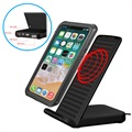 Multifunctional Fast Qi Wireless Charger / Desktop Stand - 10W - Black