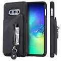 Samsung Galaxy S10e Multifunctional TPU Case with Stand - Black