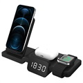 Multifunctional Wireless Charging Station with Clock C100 - Black