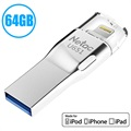 Netac U651 MFI Lightning / USB 3.0 Flash Drive - 64GB