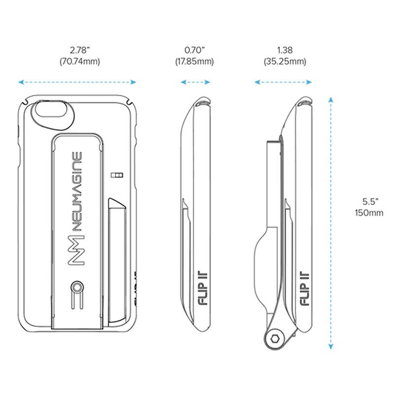 iphone 6 6s flip it selfie stick case black. Black Bedroom Furniture Sets. Home Design Ideas
