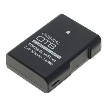 Nikon EN-EL14 Battery - Df, D3300, D5300, D5500 - 950mAh