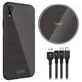 Nillkin Fancy iPhone XR Case / Wireless Charger / 3-in-1 Cable