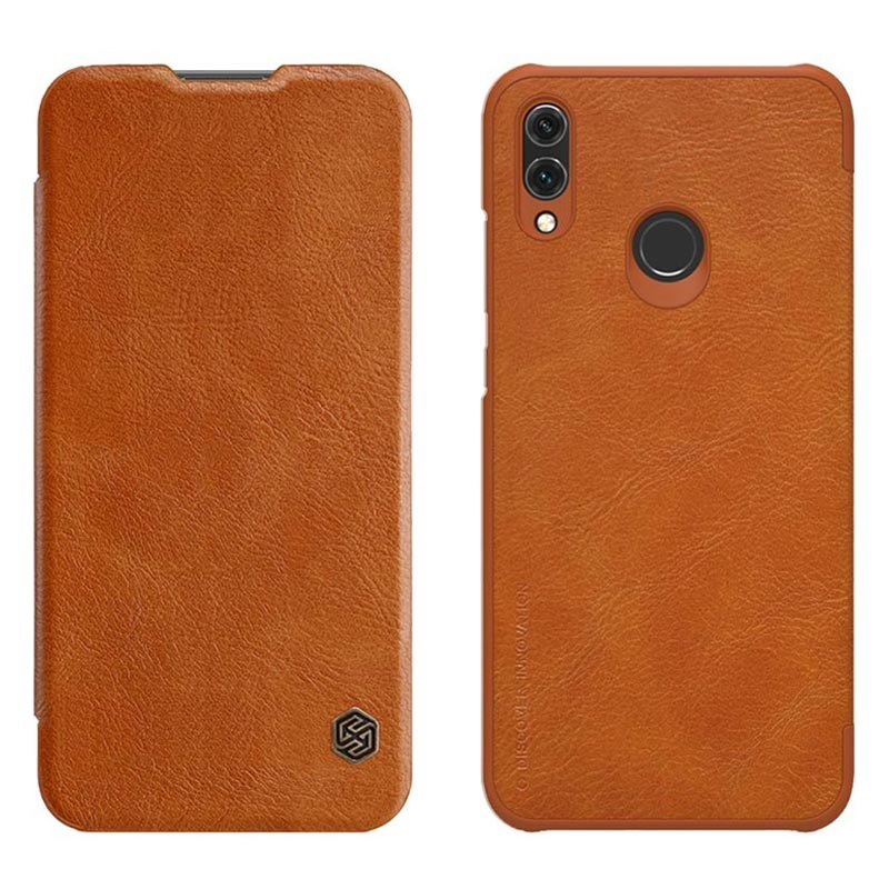 new product 2f1ef 363c7 Nillkin Qin Series Huawei Honor 10 Lite, P Smart (2019) Flip Case - Brown