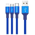Nillkin Swift 3-in-1 Cable - Lightning, USB-C, MicroUSB - Blue