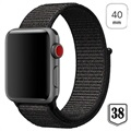 Apple Watch Series 4/3/2/1 Nylon Strap - 40mm, 38mm - Black