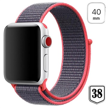 Apple Watch Series 4/3/2/1 Nylon Strap - 40mm, 38mm - Red