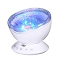 Ocean Wave Projector with Colorful LED Night Light - White