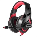 Onikuma K1-B LED Gaming Headset with Microphone - Red / Black