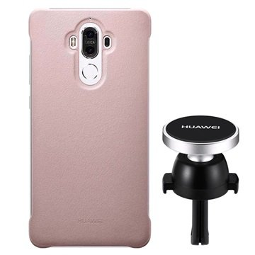 Huawei Mate 9 Case & Magnetic Car Holder Combo - Pink