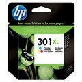 HP 301 Multipack Ink Cartridge XL - Deskjet 1000, 1050, 2540 AiO - 3 Colours